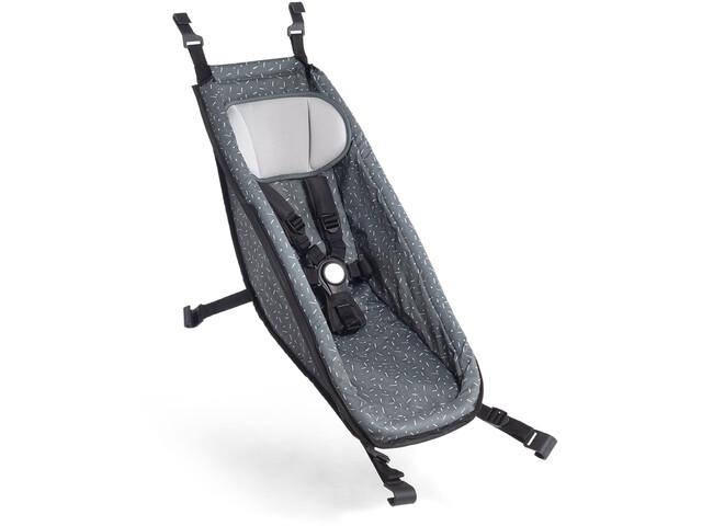 Croozer Babysitz für Kid ab 2014 graphite blue/white